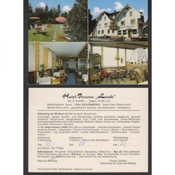 Ansichtskarte Hotel Pension Linde Schömberg Kreis Calw Schwarzwald