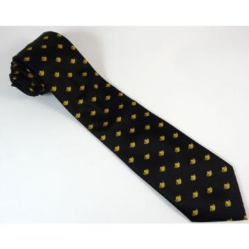 Teapot Tie Linde Lane Black Gold Coffee Shop Waiter Necktie