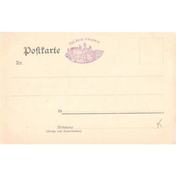 Germany postcard Nurnberg Konigliche Burg Schlosshof mit Linde