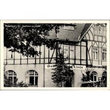 Ak Stützerbach im Ilm Kreis Thüringen, Gasthaus zur Linde, Fachwerk - 1463863