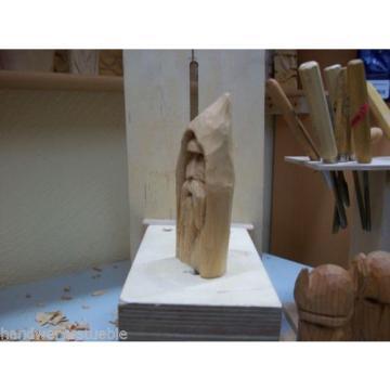 Gesicht Wichtel Holzfigur Hand geschnitzt aus linde Einzelstück