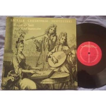 LECLAIR / CHEDEVILLE / HOTTETERRE Flute Sonatas LINDE KOCH RUF Harmonia Mundi 10