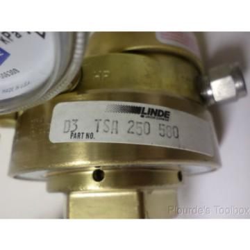 Used Linde Gas Regulator, 400PSI/2800kPa, 4000PSI/28000kPa, D3-TSA-250-580