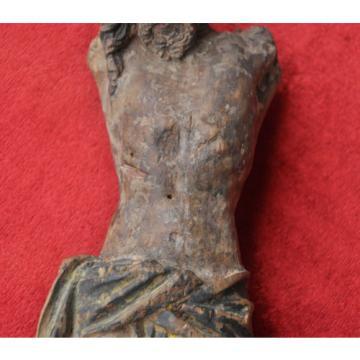 Christusfigur, spätgotisch, 1500-1530, Bayern/Österreich, Linde, gefasst, 25 cm,