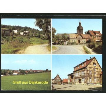 schöne AK Dankerode, Bungalowsiedlung, Anger, Konsum-Gaststätte Zur Linde