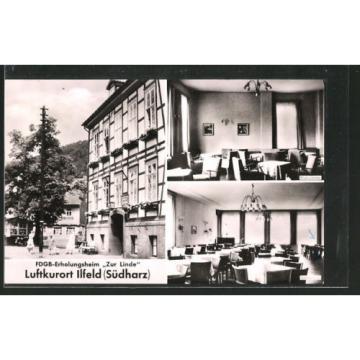alte AK Ilfeld, FDGB-Erholungsheim Zur Linde 1965