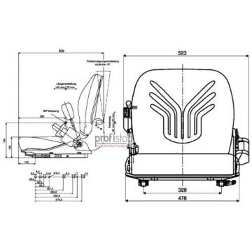 Grammer B12 interrupteur Pvc 1127771 Siège chariot élévateur Linde Still GS12