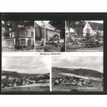 AK Markersbach, Gasthaus zur Linde, Gasthäuser Erbgericht Hellendorf u. Markers