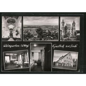 schöne AK Weingarten, Gasthof zur Linde, Teilansicht, Altar-Raum