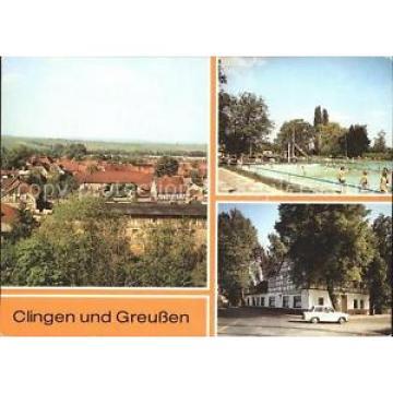 72316572 Clingen Teilansicht HOG Zur Linde Greussen Freibad Clingen