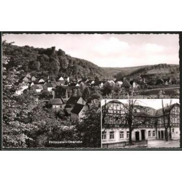 schöne AK Phillippstein, Panoramaansicht, Gasthaus und Pension Zur Linde 1959