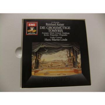 R Keiser Die Grossmutige Tomyris Hans-Martin Linde 1988 NM 2LP Box EMI 749466