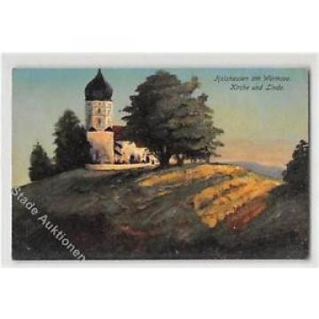 39111285 - Holzhausen am Wuermsee, Kuenstlerkarte. Kirche Linde gelaufen. Leicht