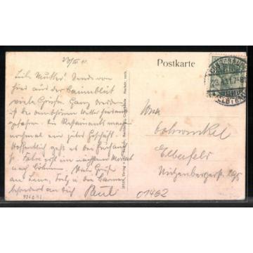 alte AK Cossebaude, Ortsansicht mit Gasthaus zur Linde, Baumblut 1911