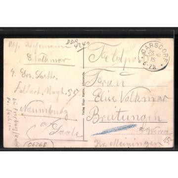 AK Albersroda, Gasthaus zur Linde, Schule, Kirche, Dofstrasse, Reichsfahne 1915