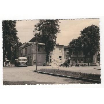 21/290 FOTO RÖBEL STADTGARTEN BUS MOTORRAD GASTHOF ZUR LINDE FAHRRAD WERBUNG DDR