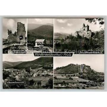 42962381 Vorderweidenthal BurgBerwartstein Roedelstein Gesamtansicht Ruine Linde