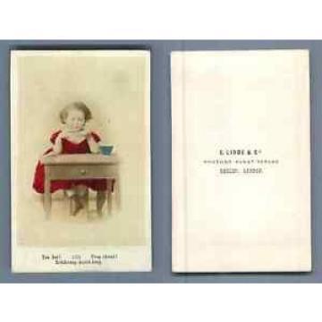 E. Linde & Co. Trop chaud ! CDV vintage albumen Tirage albuminé aquarellé  6