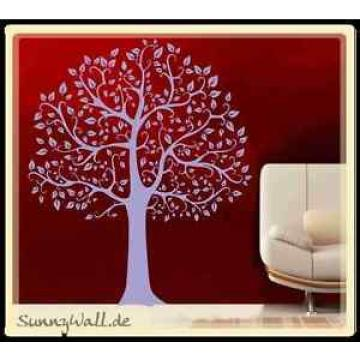 Wandtattoo Baum Linde Tree Laub Blätter Natur XXL +74+