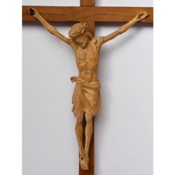 Kruzifix Christuskreuz Kreuz Holz Linde handgeschnitzt 19./20. Jh. 58 x 32 cm