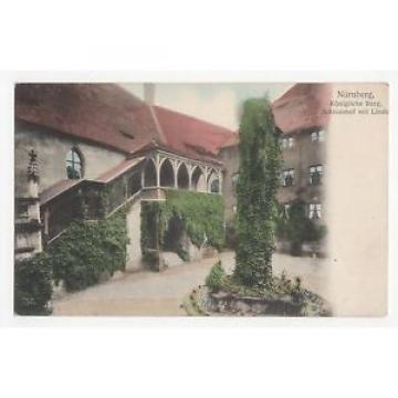 Germany, Nurnberg, Konigliche Burg, Schlosshof mit Linde Postcard, A402