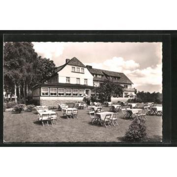 schöne AK Neuhaus, Rückansicht des Hotels Zur Linde 1965
