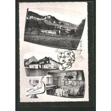 schöne AK Westerburg, Gasthof Zur Linde und Ortsansicht 1961