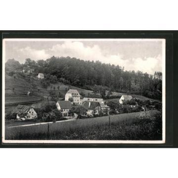 schöne AK Utzmannsbach, Ortsansicht mit Gaststätte zur Linde 1942