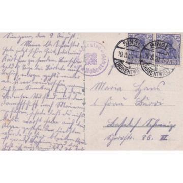 AK Singen gel. 1920 Hohentwiel Scheffel-Linde Stadtansicht  Konstanz