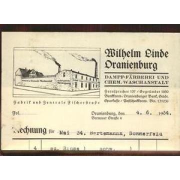 41404134 Oranienburg Fa Wilhelm Linde Rechng Oranienburg