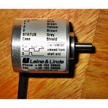 Incremental Encoder, Leine & Linde 320008351, 500PPR, 9-30Volts
