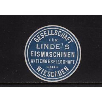 402531/ Siegelmarke - Gesellschaft für Linde´s Eismaschinen - WIESBADEN