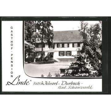 alte AK Durbach, Gasthof-Pension Linde, Hausansicht