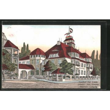 alte AK Oetzsch, Gasthof zur Linde v. G. Kipping 1911