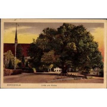 Ak Bordesholm in Schleswig Holstein, Straßenpartie, Linde und Kirche - 1246171