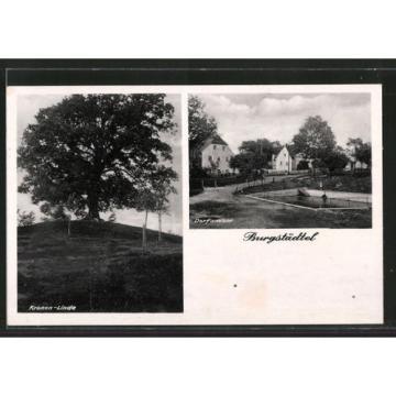 alte AK Heidenau, Kronen-Linde, Dorfansicht 1943