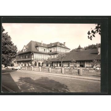 alte AK Sitzendorf, HO-Hotel Zur Linde