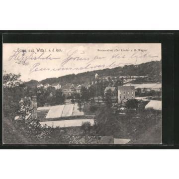 tolle AK Witten, Teilansicht mit Restaurant Zur Linde 1914