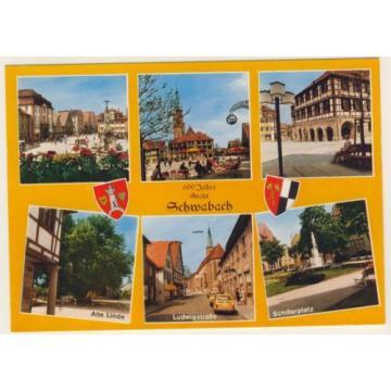 AK _ 600 Jahre Schwabach_Marktplatz Alte LInde Ludwigstraße Schillerplatz_zo379