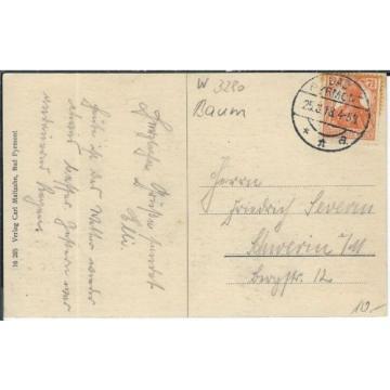 Ansichtskarte Bad Pyrmont - Alte Linde im Schloßhof - gelaufen 1918 - SELTEN RAR