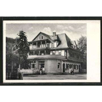 alte AK Sitzendorf, HO-Hotel Zur Linde 1954