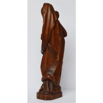 Große Holz Skulptur Linde geschnitzt Maria Muttergottes Madonna mit Kind 54 cm