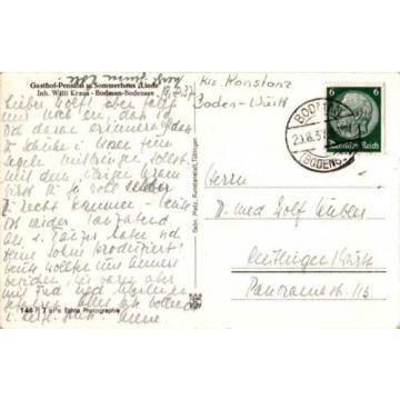 AK GRUSS AUS BODMAN BODENSEE KE KONSTANZ GASTHAUS PENSION LINDE VON W KRAUS 1937