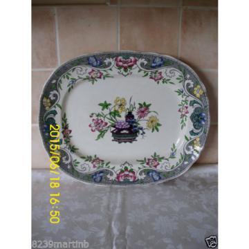 Minton M & Co Linde Pattern Floral Large Meat Platter #2