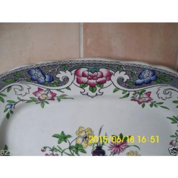 Minton M & Co Linde Pattern Floral Large Meat Platter #1