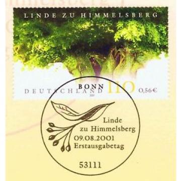 BRD 2001: Himmelsberg-Linde Nr. 2208 mit dem Bonner Ersttags-Sonderstempel! 1A!