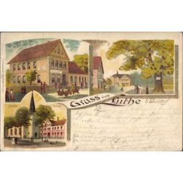 Litho Luthe Wunstorf in Niedersachsen, Gasthaus zur Linde, Inh.... - 10045724