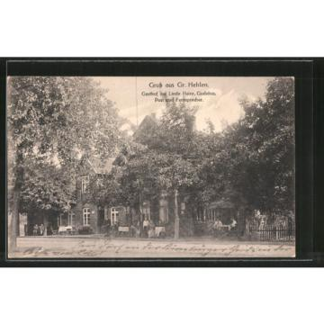 tolle AK Gross Hehlen, Gasthof zur Linde von H. Gudehus 1917
