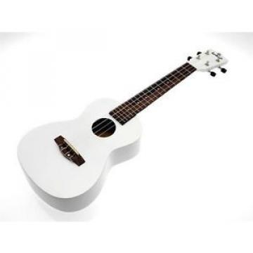 kokio Linde Concert Ukulele avec poche, Blanc / blanc