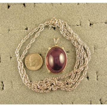90+ CT PMP LINDE LINDY TRAN RED STAR RUBY CREATED SAPPHIRE PENDANT CHAIN .925 SS